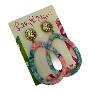 Lily Pulitzer Earrings. Colorful w Bright Colors